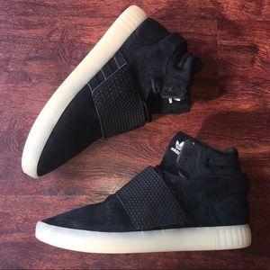 Adidas zapatos hombres tubulares tubulares tubulares poshmark invasor Correa 105 negro 02dc5b